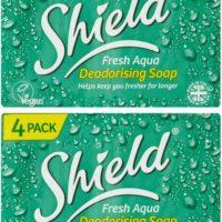 Shield Fresh Aqua Deodorising Soap 4x115g 2 Packs 8 Bars