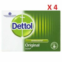 4 X Dettol Original Bar Soap - Skin Hand Body Bath Soap 100g-Kills 99.9