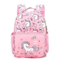 Unicorn Backpack Canvas Girls School Shoulder Bag Rucksack Travel Container Cute