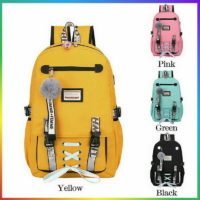 Womens Large School Bags For Teenage Girls USB With Lock Anti Theft Backpack NEW
