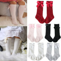 Baby Girls Knee High Socks Bow Toddlers School Stockings