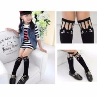 Kids Toddlers Girls Soft School Knee High Cotton Tights Socks Stockings Cute UK