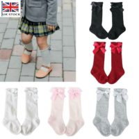 Baby Girl Toddler Spanish Romany Knee High Socks Bowknot Party School Stockings
