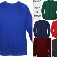 BOYS/KIDS SCHOOL JUMPER CREW NECK UNIFORM FLEECE SWEATSHIRT JUMPER ALL SIZES