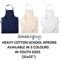 Zeco Boys Girls Youth Cotton School Woodwork Craft Lab Cooking Aprons + Pockets