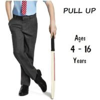 BOYS SCHOOL TROUSERS EASY DRESS PULL UP PULL ON EX UK STORE 3-8 YEARS GREY