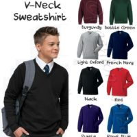 Boys School Jumper V Neck Sweater Fleece Sweatshirt School Uniform Ages 3-13