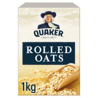 Quaker Porridge Oats 1kg. 100% Wholegrain Rolled Oats. Breakfast Cereal.