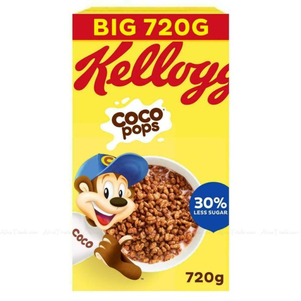 Kellogg's Coco Pops Chocolate Flavour Crunchy Breakfast Cereal 2 Packs of 720g