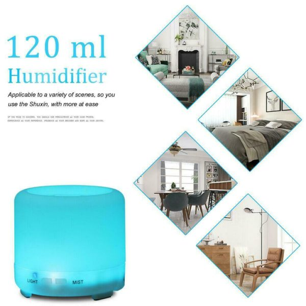 Electric Oil Essential Aroma Diffuser Humidifier Air Purifier LED Light UK