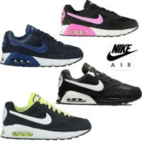 New Nike Air Max Ivo Boys/Girls Kids Trainers Navy Black White Volt Pink Size