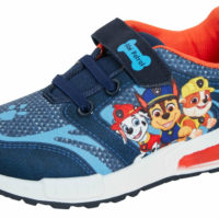 Boys Paw Patrol Light Up Trainers Kids Chase Marshall Easy Fasten Sports Shoes