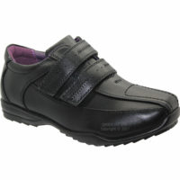 NEW BOYS BLACK TRAINERS KIDS BACK TO SCHOOL SHOES CASUAL TRAINERS UK SIZES 8-6