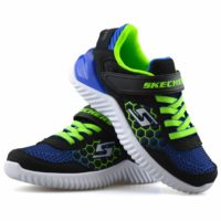 Boys Kids Skechers Casual Touch Strap Memory Foam Sports Gym Trainers Shoes Size