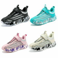 KIDS BOYS SPORTS SHOES RUNNING TRAINERS GIRLS COMFY SCHOOL CASUAL SNEAKERS SIZE