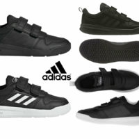 Adidas Boys Trainers Kids Tensaurus Strap School Casual Sports Shoes Black White