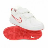 Girls Shoe Nike Pico 4 JUNIOR GIRLS Leather Trainers White UK SIZES 10 - 2.5
