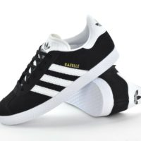 ADIDAS GAZELLE J - JUNIOR (OLDER KIDS) TRAINERS -BB2502 - BLACK/WHITE -BRAND NEW