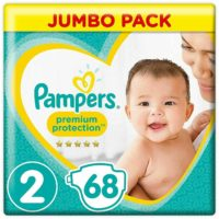 Pampers Size 2 New Baby Nappies Diapers, Jumbo Pack of 68