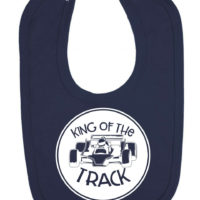 King of the Track Newborn Toddler Baby Bib