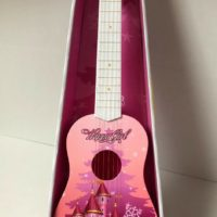 "New GUITAR TOY PINK CASTLE 23"" KIDS ACOUSTIC GUITAR MUSICAL INSTRUMENT CHILD UK"
