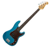 SX 3/4 SIZE ELECTRIC BASS PRECISION STYLE IN BLUE FREE GIG BAG & DELIVERY