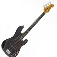 SX ELECTRIC BASS PRECISION STYLE IN BLACK FREE GIG BAG & DELIVERY
