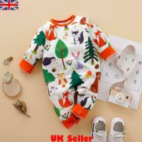 Newborn Baby Boys Girls Cartoon Animal Romper Jumpsuit Bodysuit Outfits Clothes