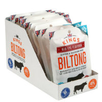 Kings Beef Biltong - Rib Eye Flavour, 16 x 30g Multipack