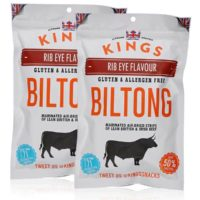 Kings Beef Biltong - Rib Eye Flavour, 2 x 300g Titan Packs