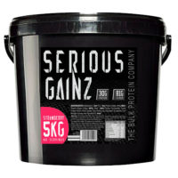 Serious Gainz Weight Gainer 5kg Muscle Mass Gain Protein Powder Shake Strawberry