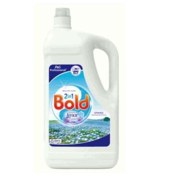Bold Laundry Liquid 4.55L Detergent with Built in Lenor Freshens Spring 130 Wash