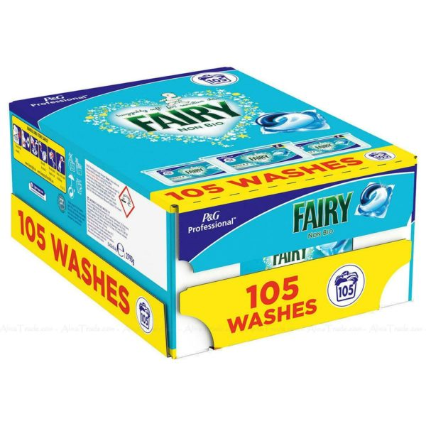 Fairy 3 in 1 Pods Non Bio Fresh Liquitabs Detergent Washing Capsule Pack 3 x 35