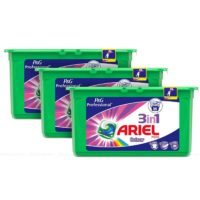 Ariel 3 in 1 Pods Colour Bright Liquitabs Detergent Washing Capsule Pack 3 x 35