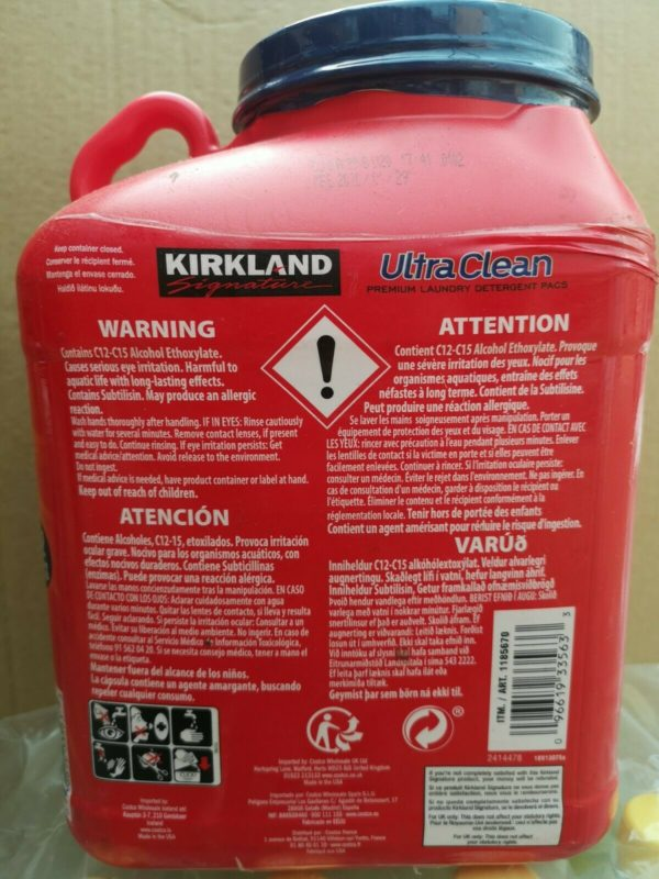 Kirkland Signature Ultra Clean Laundry Detergent Refreshing Scent 3.6Kg 152 Pacs