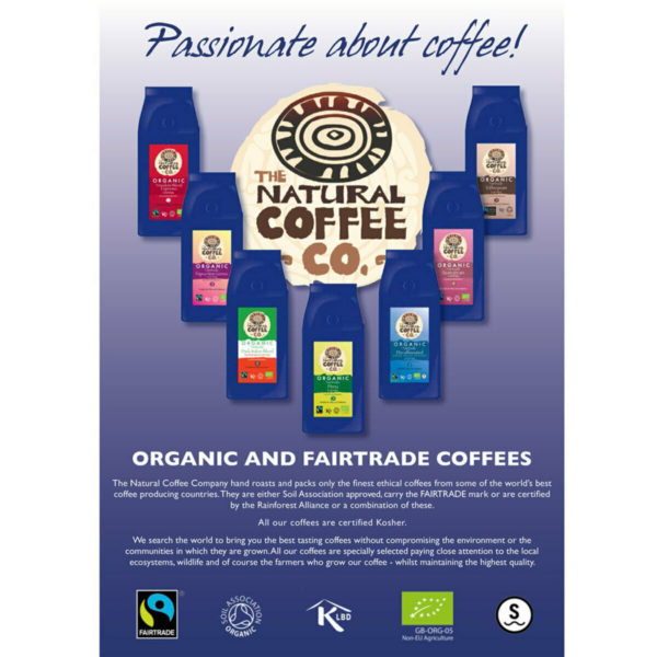 The Natural Coffee Co. Organic Freedom Blend Whole Bean Coffee 908g