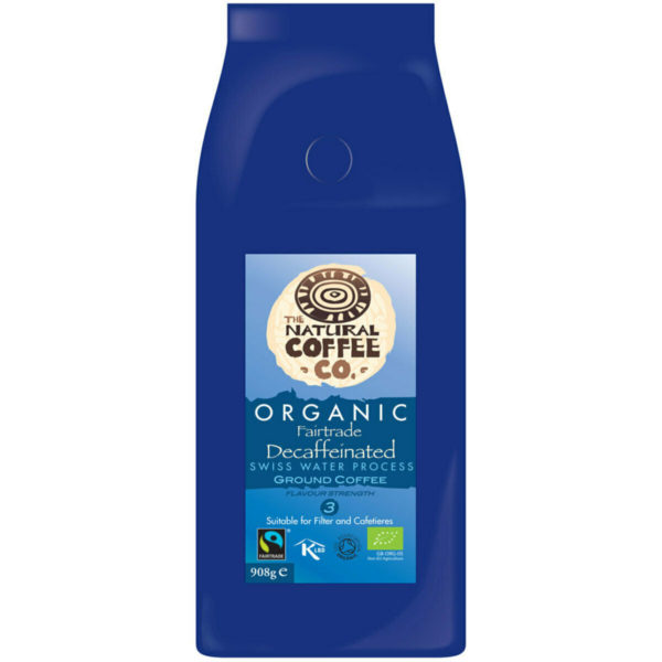 The Natural Coffee Co. Organic Decaffeinated Swiss Water Processed Ground Coffee