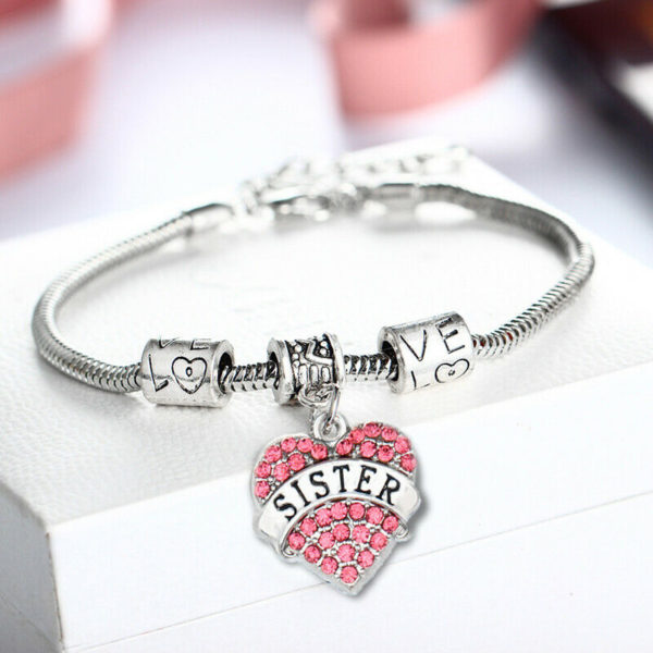 925 Sterling Silver Plated Bangle Bracelet Charm Lady Womens Jewellery Gift UK