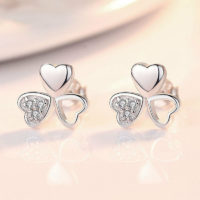 Beautiful Love Clover Stud Earrings 925 Sterling Silver Womens Jewellery Gift