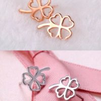 Mini Love Clover Earrings Stud 925 Sterling Silver Women's Girl's Jewellery Gift
