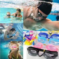 Swimming Goggles Anti Fog For Men Women Adult Junior Kids With Nose Ear Plugs