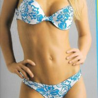 Pattened Bikini Set with Push Up Padded Underwired Top (style 12113)