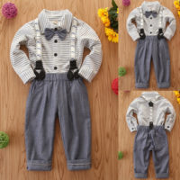 Kids Toddler Baby Boys Shirt Tops Pants Gentleman Outfits Party Clothes 2PCS Set