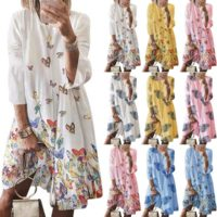 Womens Boho Shirt Dress Ladies Loose Baggy Summer Casual Beach Dresses Plus Size