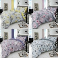 Luxury New 4Pcs Printed Duvet Quilt Cover+PillowCase + Fitted Sheet Bedding Set