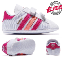 Adidas Kids Superstar Baby Trainers Classic Sneakers White/Pink