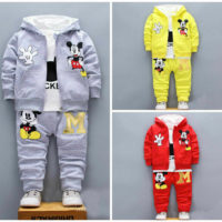 NEW Baby toddler clothes boys coat+T shirt +pants tracksuit outfits set cartoon