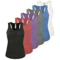 NEW Womens Ladies Vest Top Cami Sleeveless Tshirt Base Layer Gym Yoga Tank Basic