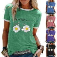 Womens Sunflower Tee Ladies Sweatshirt Summer Blouse Casual t Shirt Floral Tops