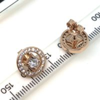 Rose Gold Plated Sterling Silver Vintage Allure Stud Earrings